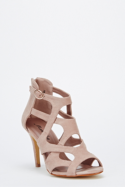 9b836aeea20 Mid Heel Cut Out Sandals - Just £5