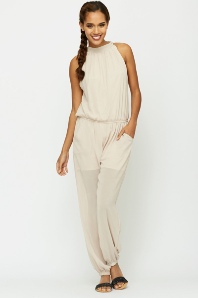 Tie Up Neck Jumpsuit