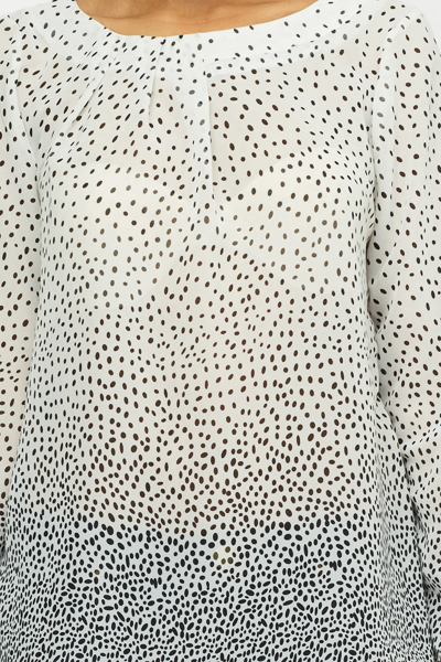 White Clustered Spotty Top