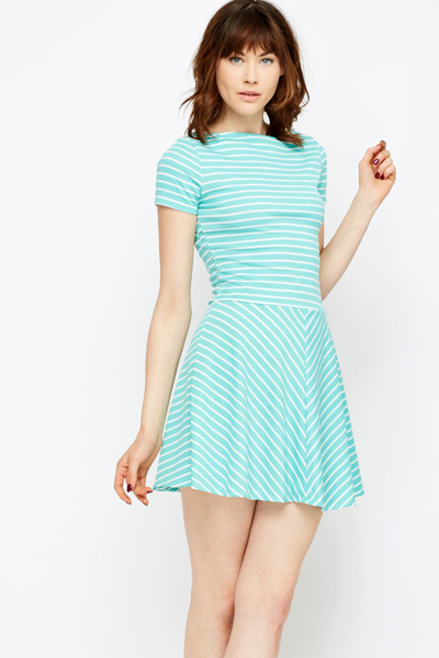 5420a2f8d3377 Striped Swing Hem Dress - Just £5
