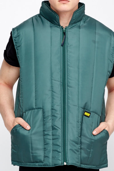 Green Work Body Warmer Jacket