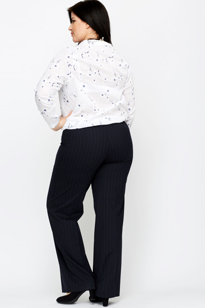 Pin Stripe Black Trousers
