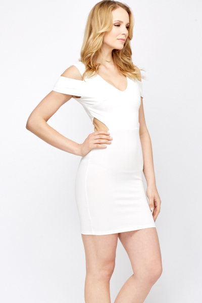 Ivory Cut Out Bodycon Dress
