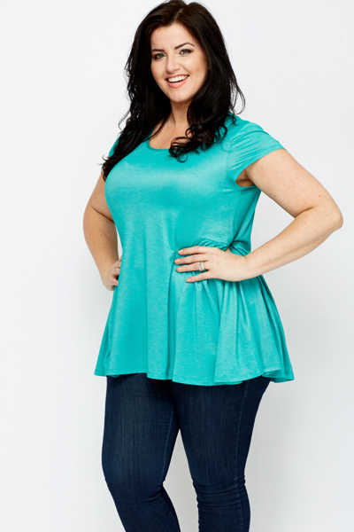 Pleat Side Green Top