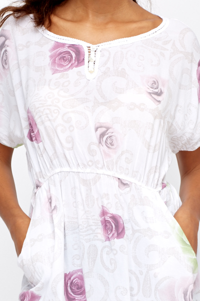 Light Weight Rose Print Top