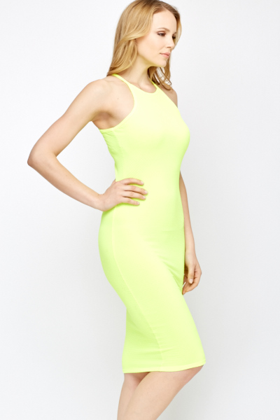Neon Bodycon Dress