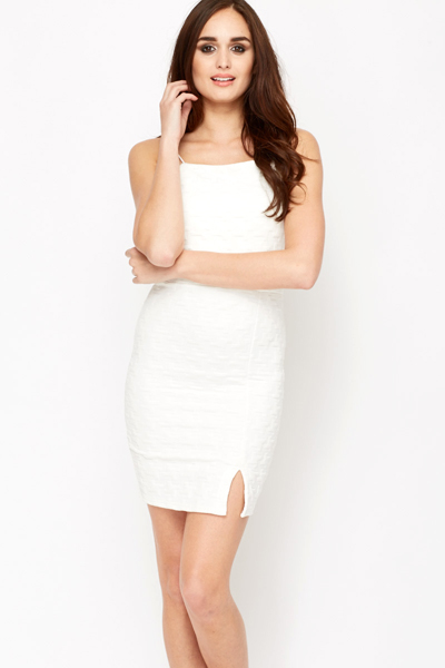 Textured Bodycon Dress