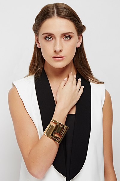 Cut Out Twist Cuff