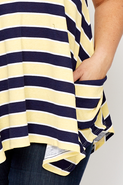 Navy/Yellow Sleeveless Top