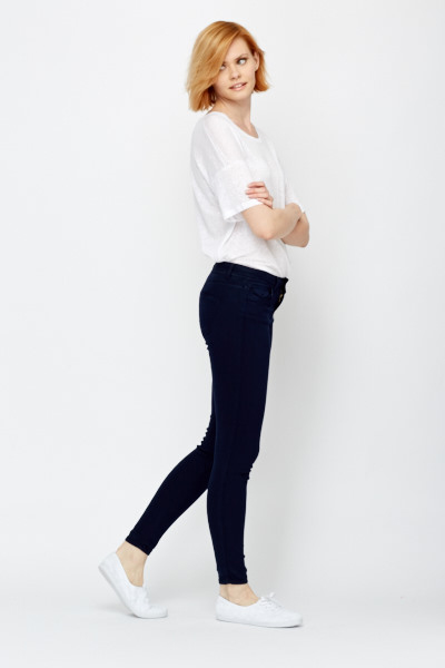 Slim Fit Button Jeggings