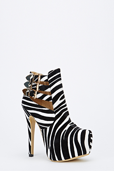 Animal Print Buckle Chunky Heels