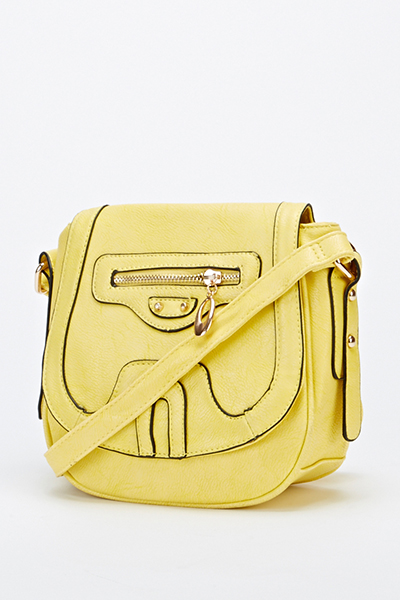 Cross Body Contrast Trim Bag