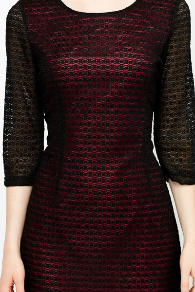 3/4 Sleeves Lace Bodycon Dress