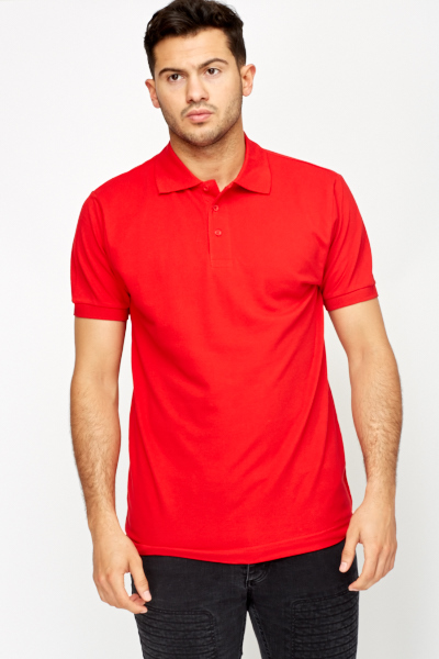 Button Neck Polo Shirt