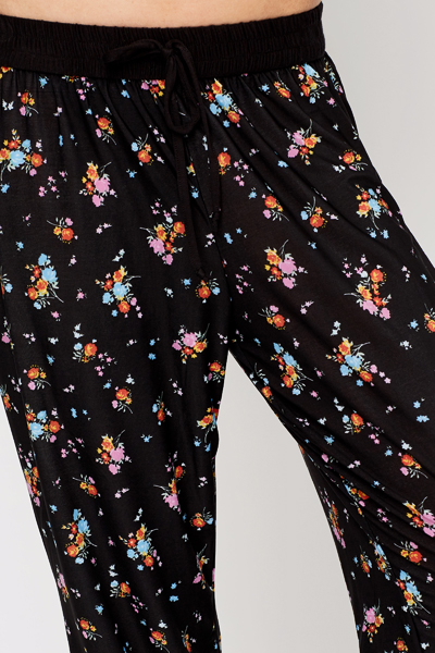 Floral Print Leisure Trousers