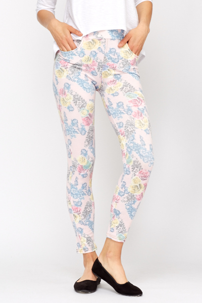 Floral Tapestry Printed Jeggings