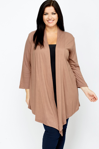 Open Front Waterfall Cardigan