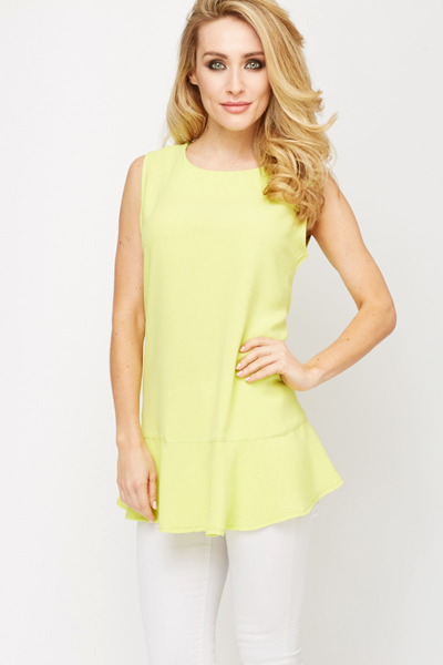 Peplum Flared Top