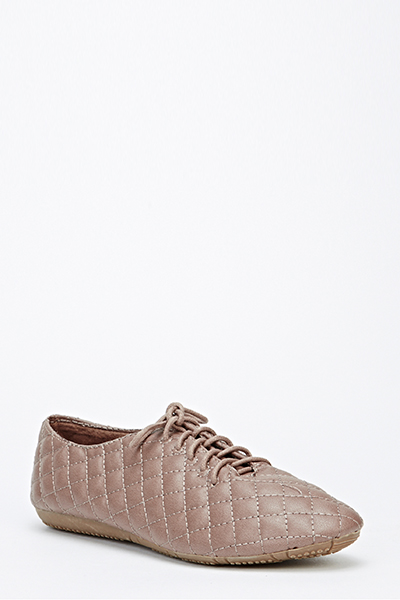 Quilted Lace Up Shoes
