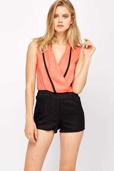 Two Tone Low Neck Playsuit