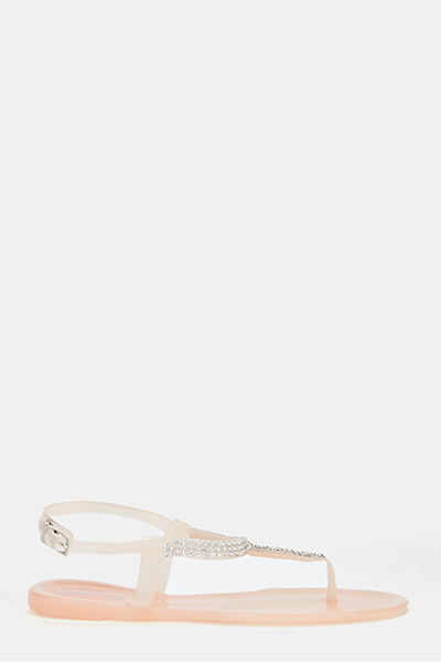 8bebe3549493a3 Encrusted Jelly Sandals - Just £5