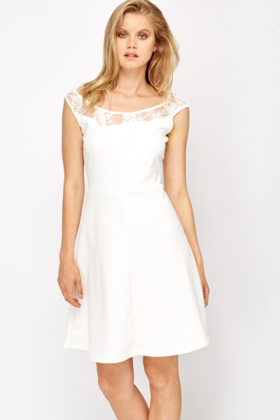 Swing Lace Yoke Dress