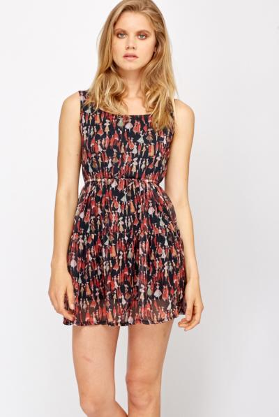 Fashion Print Skater Dress - Just £5
