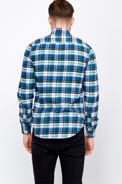 Fleece Blue Multi Shirt
