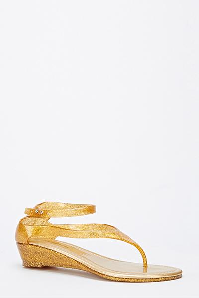 52163d7dbd8 Glitter Jelly Wedge Sandals - Just £5