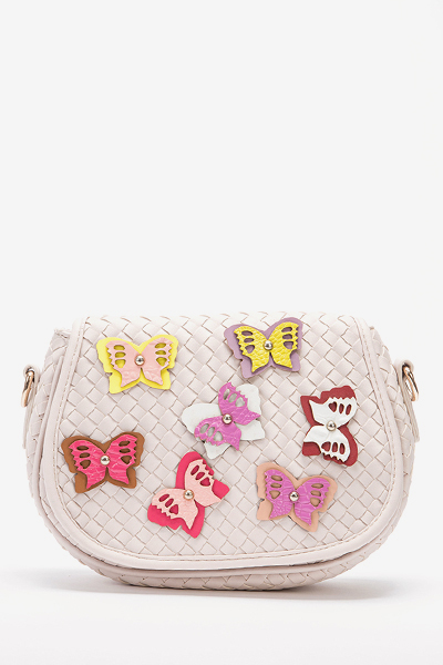 Woven Butterfly Cross Body Bag