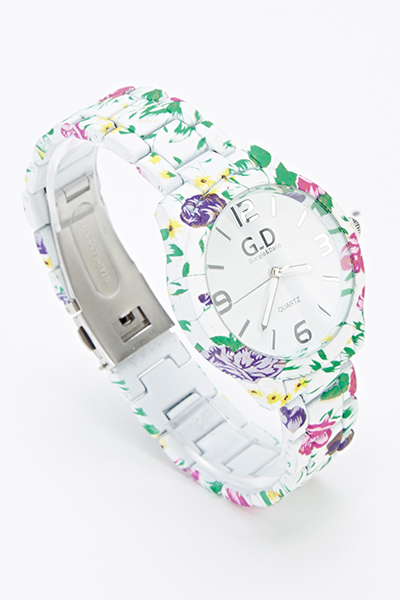 Multi Floral Ladies Watch