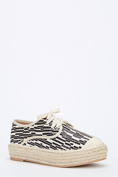 Chunky Sequin Espadrille Trainers
