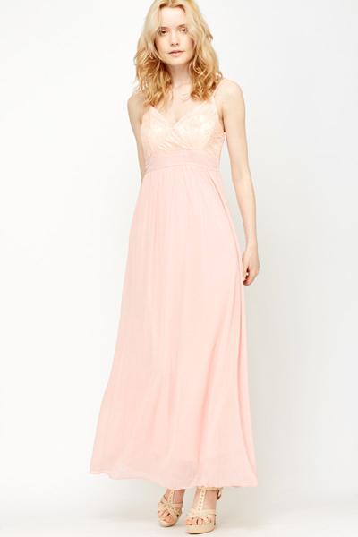 Empire Line Sheer Maxi Dress