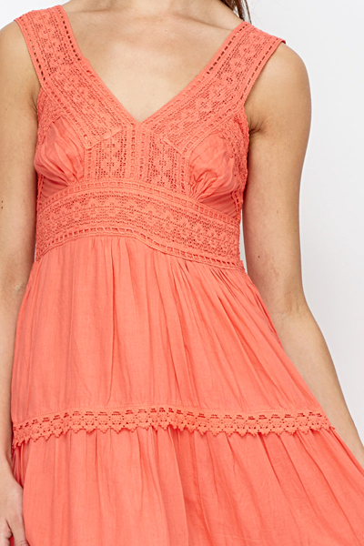 Crochet Layered Summer Dress
