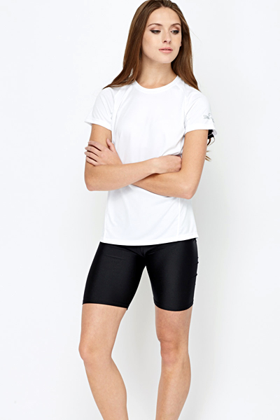 Perforated Back Sports Top