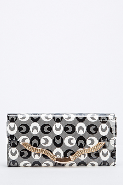 Cartoon Eye Gold Trim Purse
