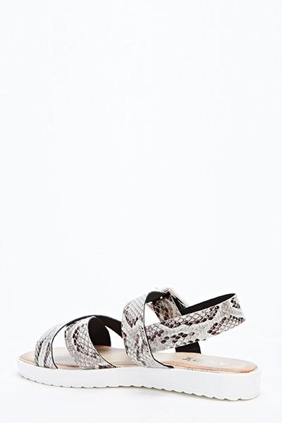 e5fee5ee293f Mock Croc Chunky Sole Sandals - Just £5