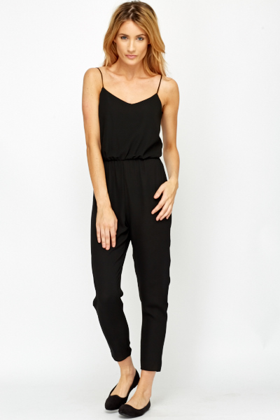 Petite Black Jumpsuit - Just £5