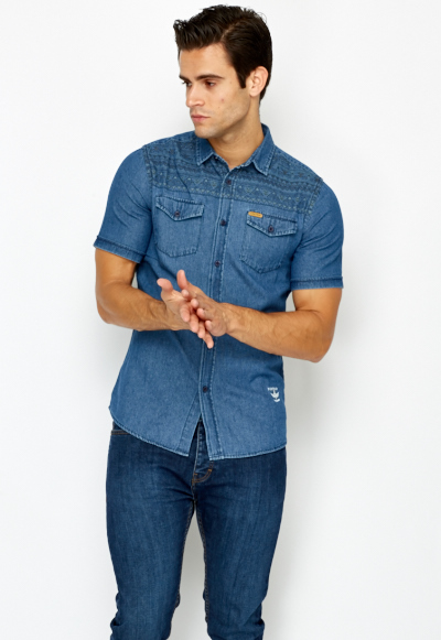Men's Denim Shirts. Showing 40 of results that match your query. Search Product Result. Product - Bigfoot Believe Logo Brown Adult T-Shirt. Product Image. Price Product - UltraClub Men's Short-Sleeve Tipped Collar Pique Polo Shirt, Style Product Image. Price $ Product Title.