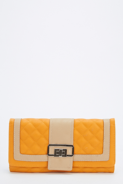 Quilted Contrast Purse