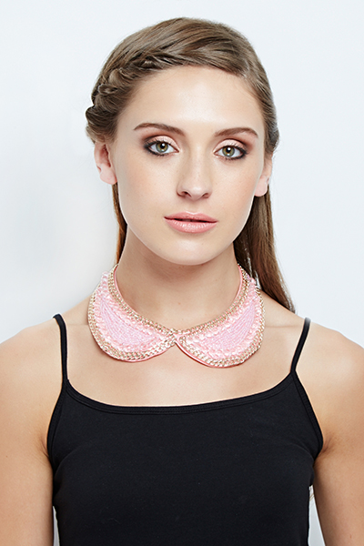 Beaded Chain Collar Necklace