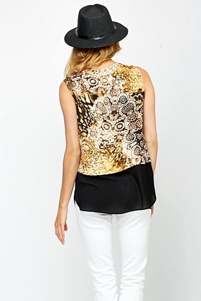 Zip Front Cream Ornate Top