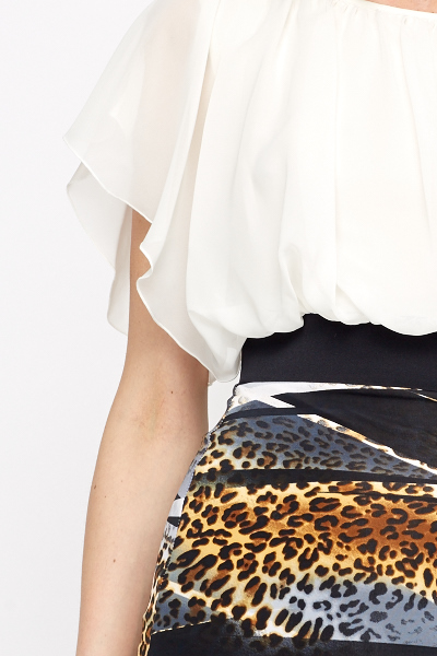Animal Print Hem Dress