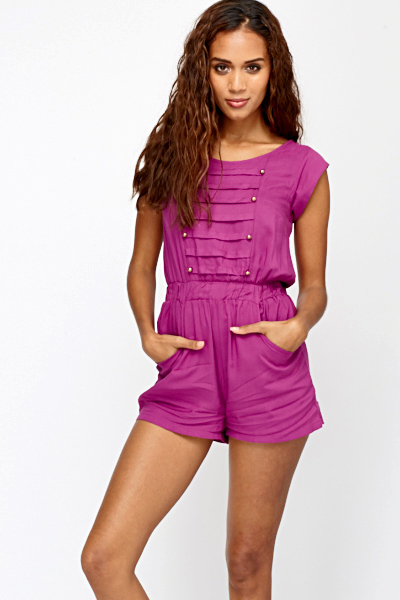 dae33eac189 Purple Military Style Playsuit - Just £5
