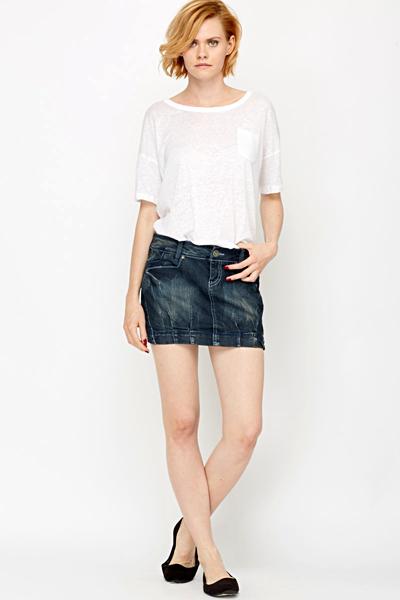 59dbbc3870e178 Denim Mini Skirt - Just £5