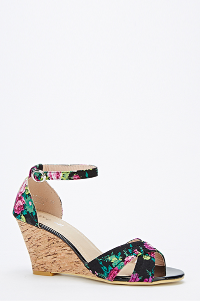 Floral Wedge Sandals Just 5
