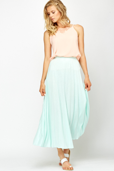 b1cdc0ed4 Pleated Swing Mint Maxi Skirt - Just £5
