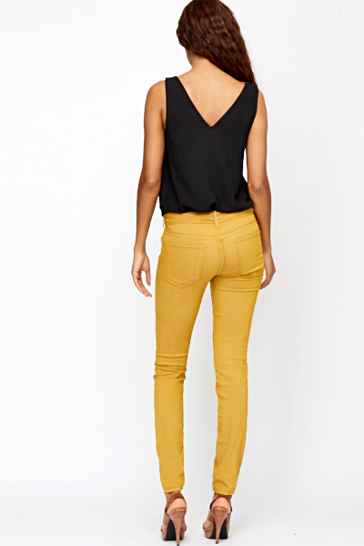 Model 24 Model Mustard Yellow Pants Womens U2013 Playzoa.com