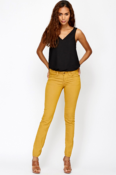 Luxury 24 Model Mustard Yellow Pants Womens U2013 Playzoa.com