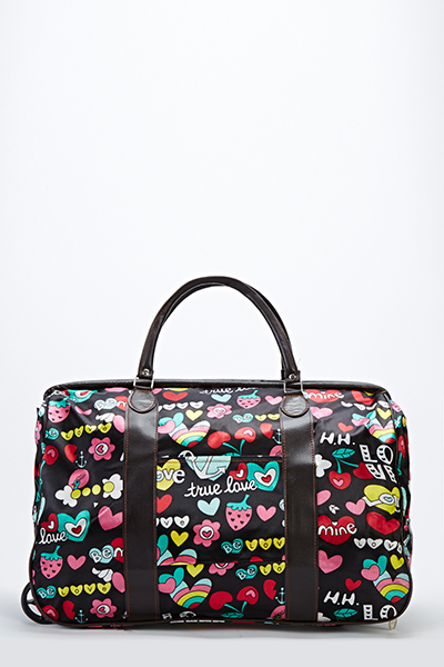 Love Graphic Luggage Travel Bag